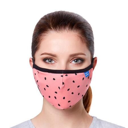 "Maska CASUAL z filtrem N95 (FFP2) ""arbuz"": maseczka ffp2"